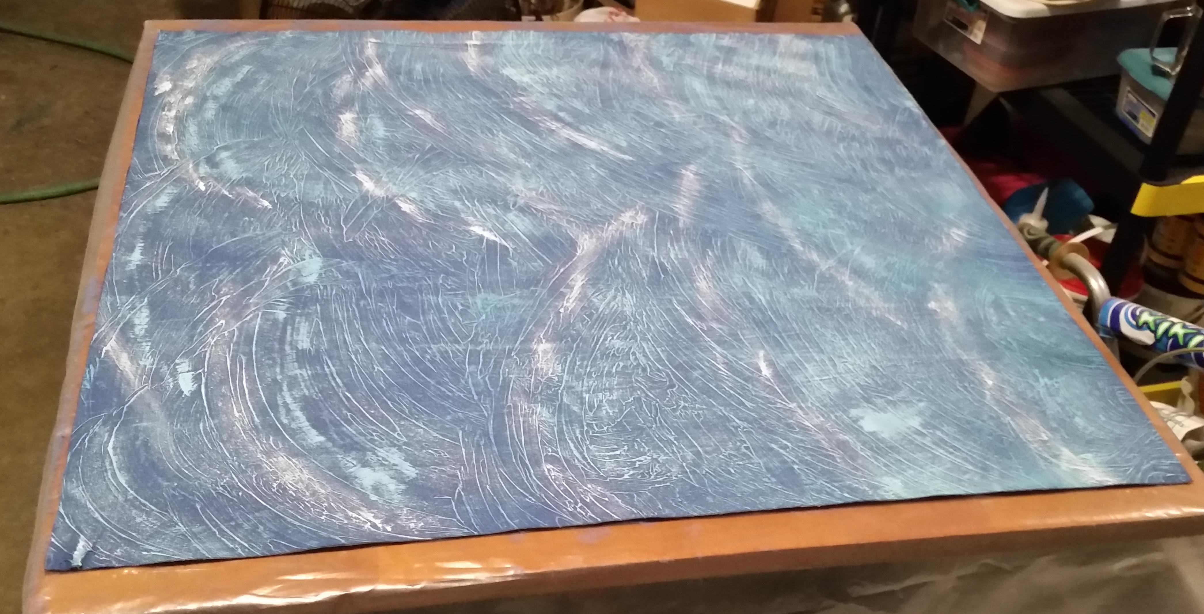 Ocean battle mat