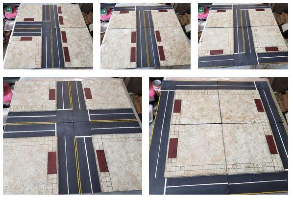 Example city board layouts